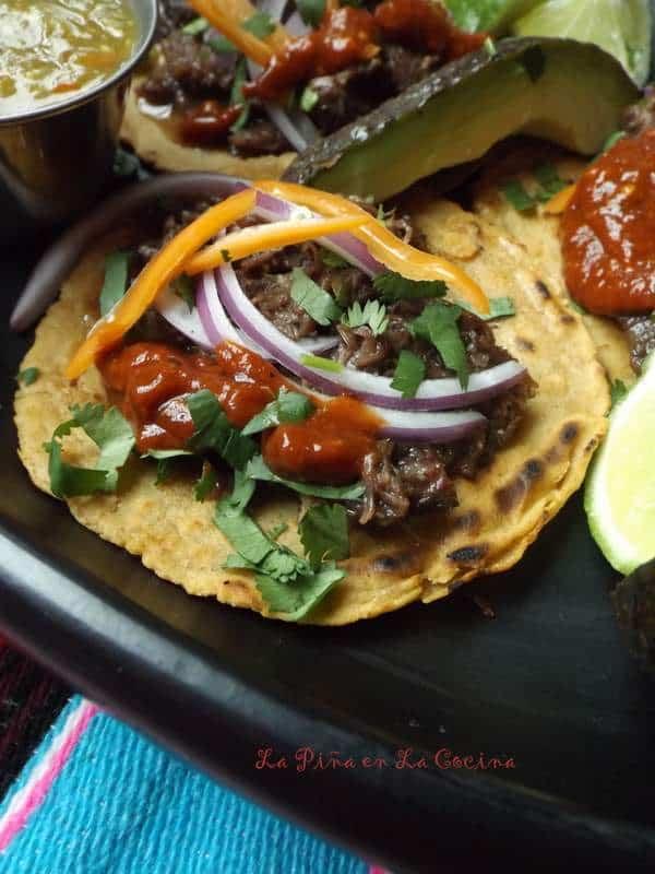 Tacos de Barbacoa de Cachete-Beef Cheek Tacos #RumbaMeats #beefcheek #familyrecipes