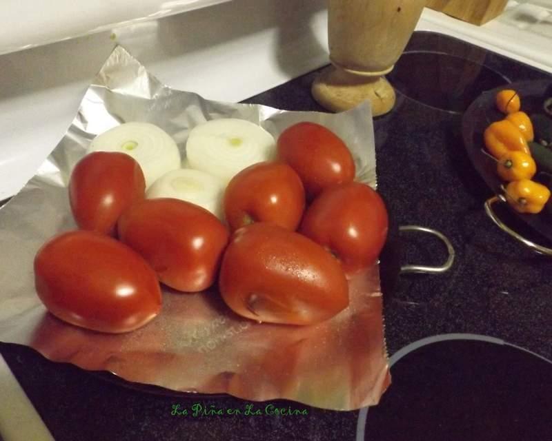 Dry Roasting Salsa Ingredients