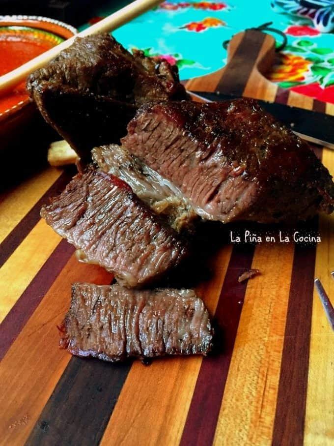 Carnitas de Res Al Vapor. Tender Beef Carnitas