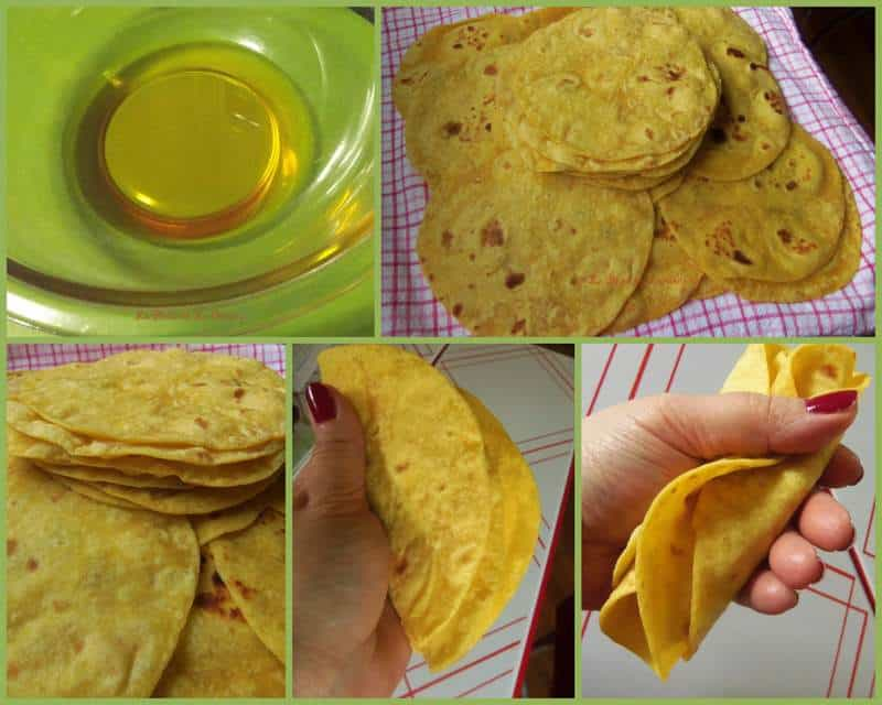 Soft Flour-Corn Tortillas With Annatto