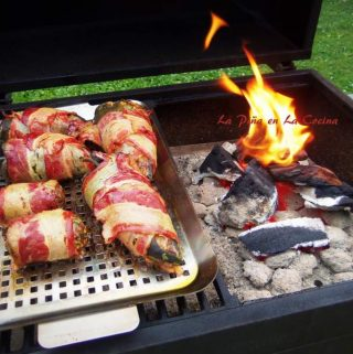 Bacon Wrapped Chile Relleno~On The Grill!