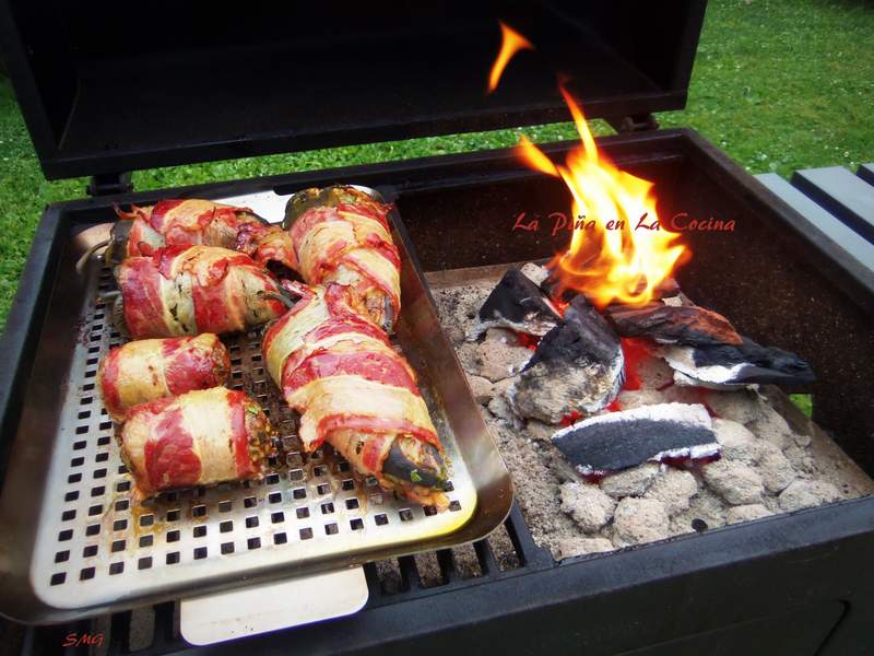 Bacon Wrapped Chiles Rellenos