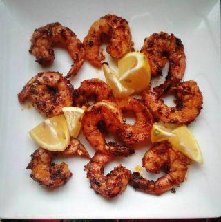 Spicy Shrimp in Chile Oil~ Camarones Enchilados en Salsa Macha
