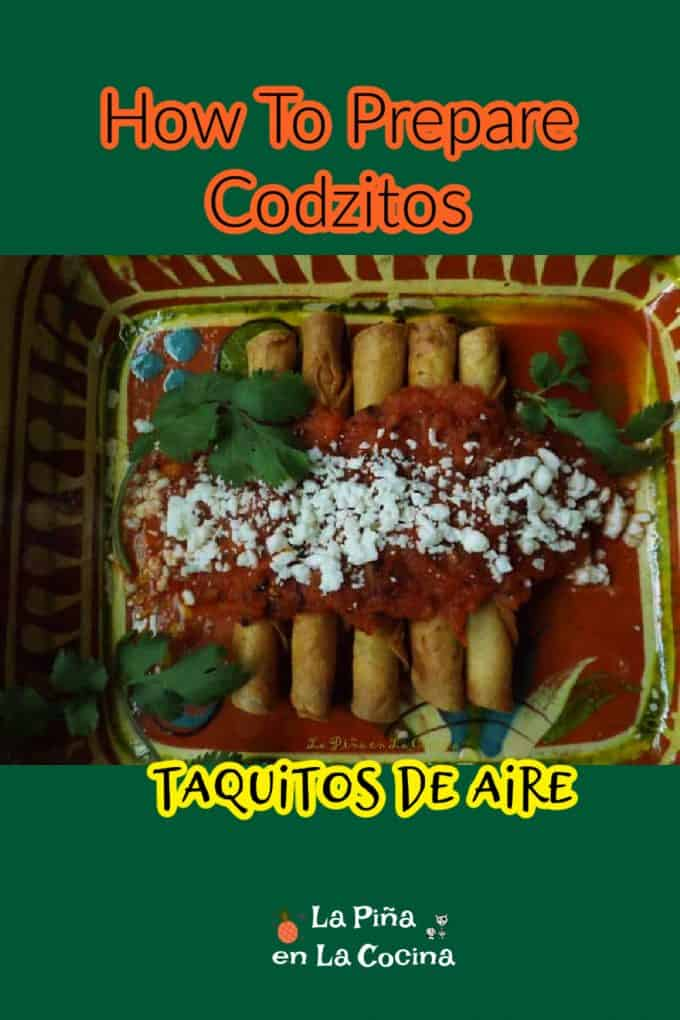 Pinterest image title of codzitos with header