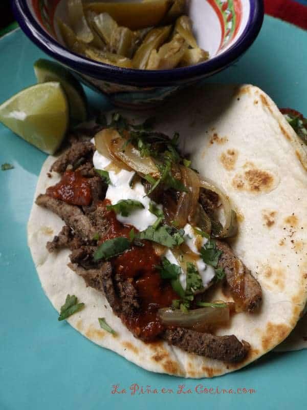 Receta Facil Estilo Tacos Arabes-Easy Beef Tacos