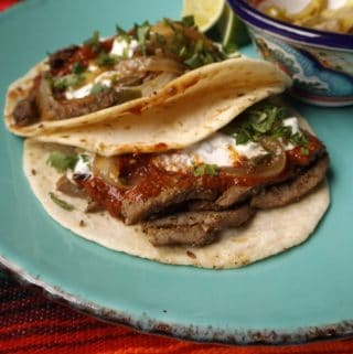 Easy Beef Steak Tacos~ Receta Facil Tacos Arabes