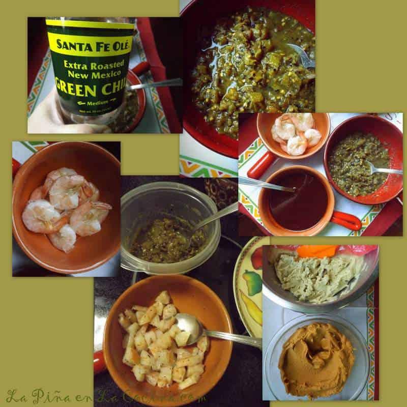 Tamal de Camarones Con Chile Verde-Shrimp Tamal with Green Chile