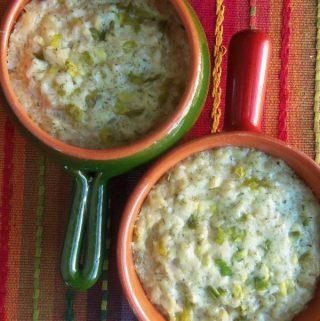 Cheesy Garlic and Herb Jasmine Rice with Bacon