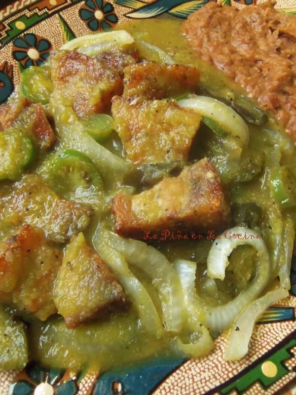 Chicharrones en Salsa Verde