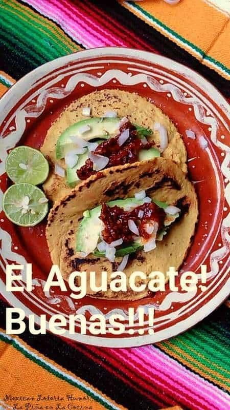 Avocado Tacos with Chile Morita and Piquin Salsa