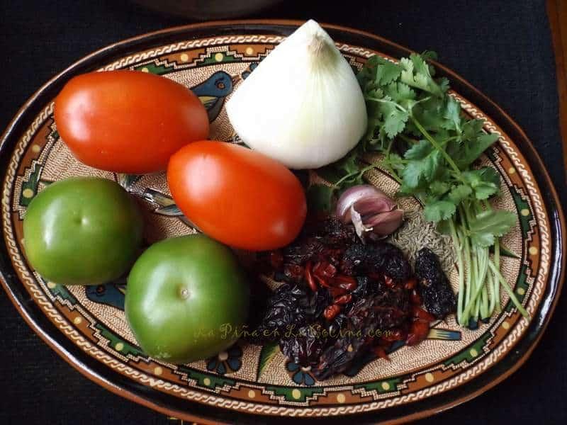 Salsa de Chile Morita y Piquin