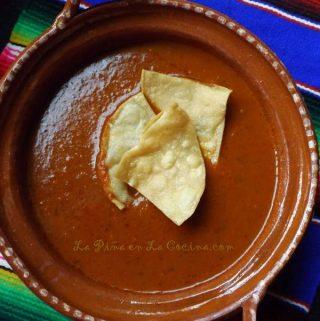 Salsa de Chile Morita y Piquin~A Smoky, Dried Chile Salsa