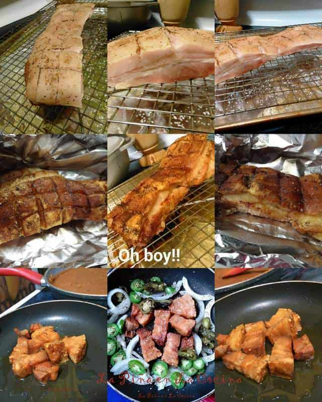 Crispy Skin Roasted Pork Belly collage