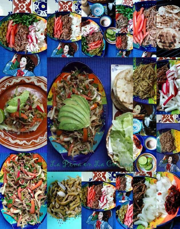 Salpicon de Res~Shredded Beef Brisket Salad~La Piña en La Cocina