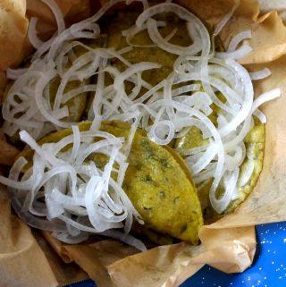 Tacos de Canasta~Cheese and Potato Tacos