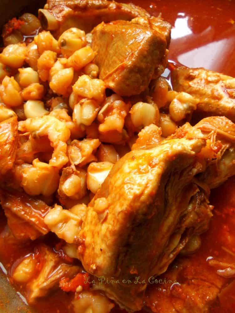 Red Chile Pork Pozole #pozole