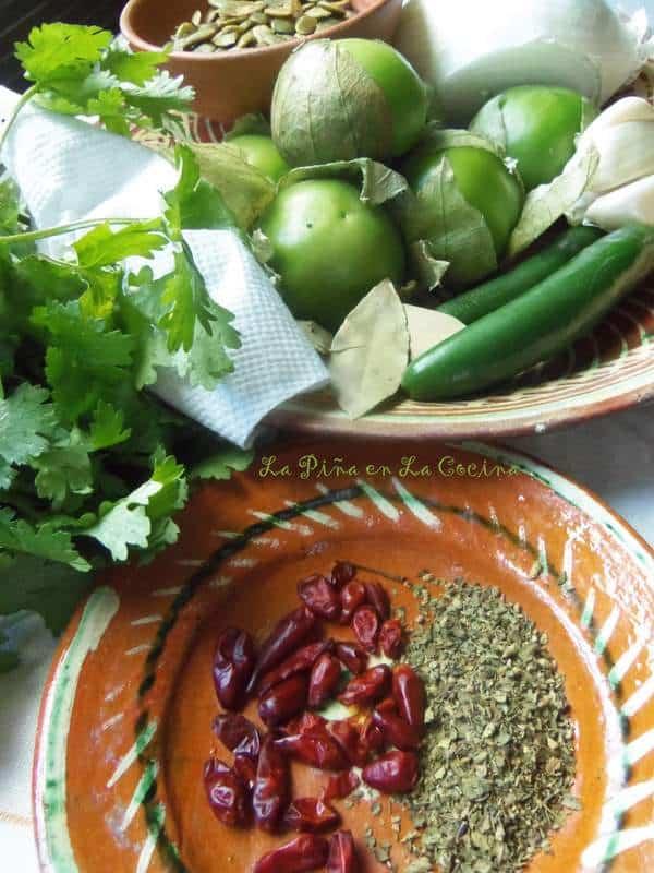 Preparing Pipian Verde Sauce