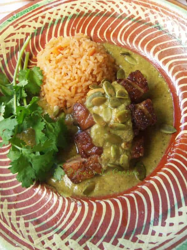 Pipian Verde-Seared Duck Breast in A Green Pipian Sauce