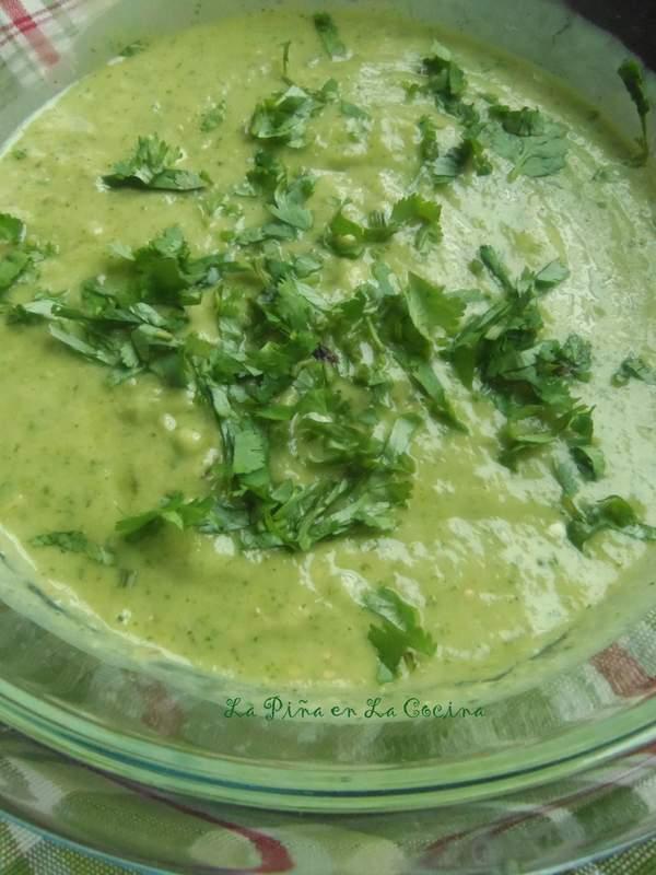 Roasted Tomatillo Serrano with Avocado