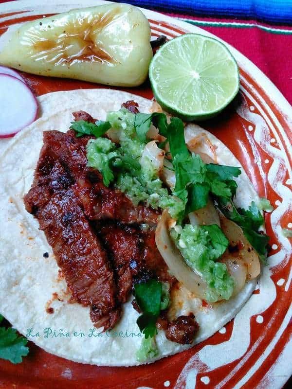 Tacos de Cecina-Marinated Beef Tacos