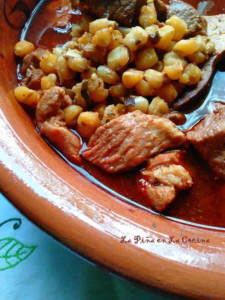 Red Chile Pork Pozole-Pozole Rojo