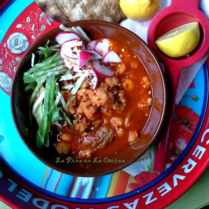 Red Chile Pork Pozole #pozole