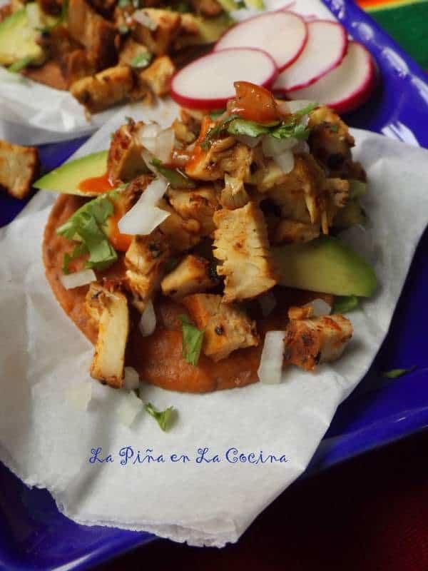 Chicken Cecina Tostadas-Cecina de Pollo