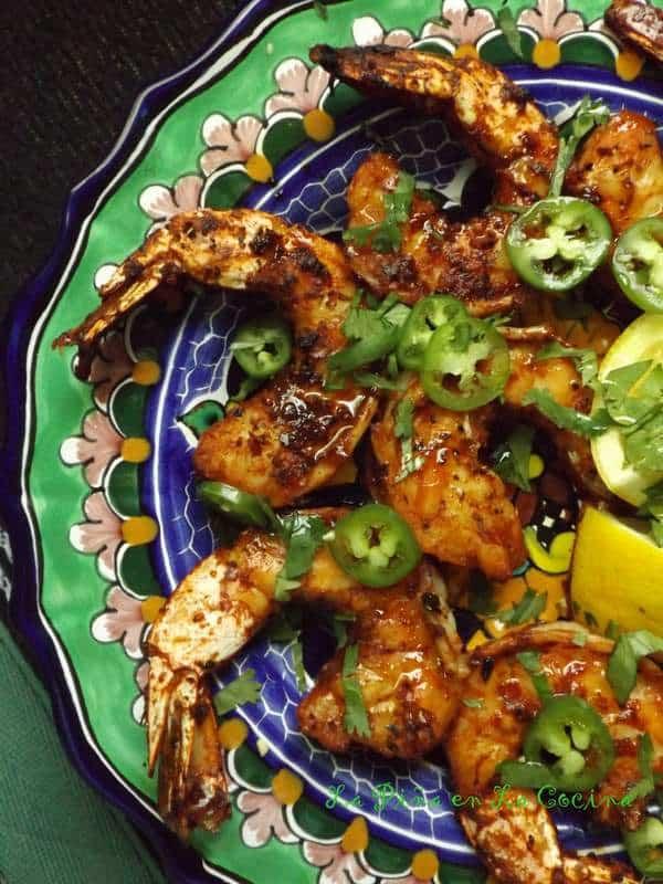 Chile Marinated Grilled Shrimp