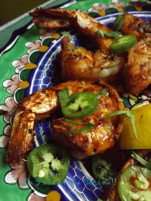 Chile Marinated Grilled Shrimp-Cecina Marinade