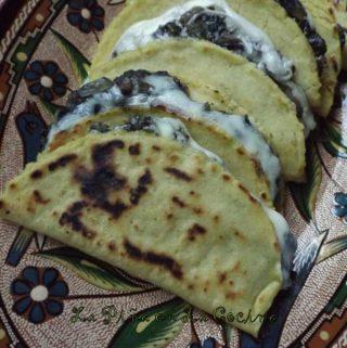 Quesadillas de Huitlacoche~Corn Truffle Quesadilllas