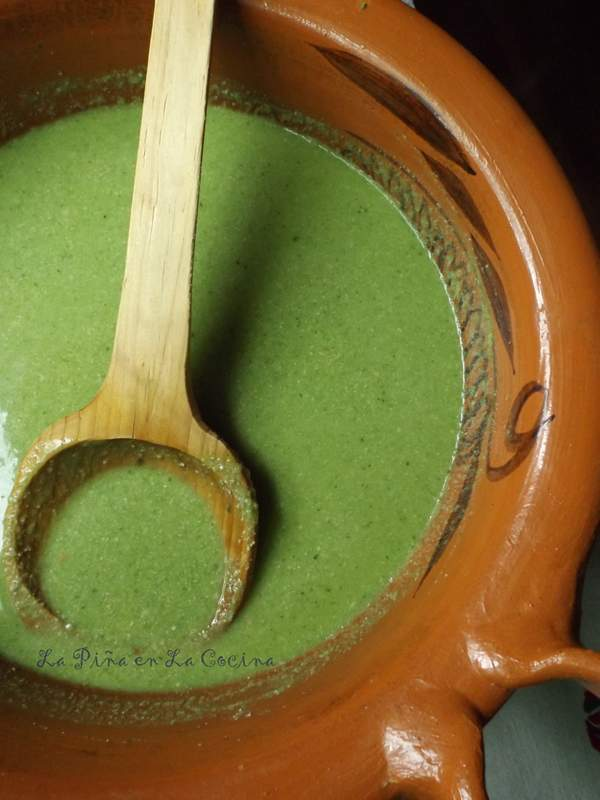 Mole Verde de Pollo-Green Mole Sauce with Chicken