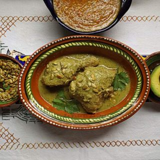Mole Verde de Pollo~ Chicken Braised in a Green Mole Sauce