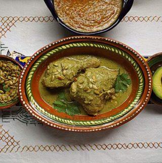 Mole Verde de Pollo~ Chicken Braised in a Green Mole Sauce