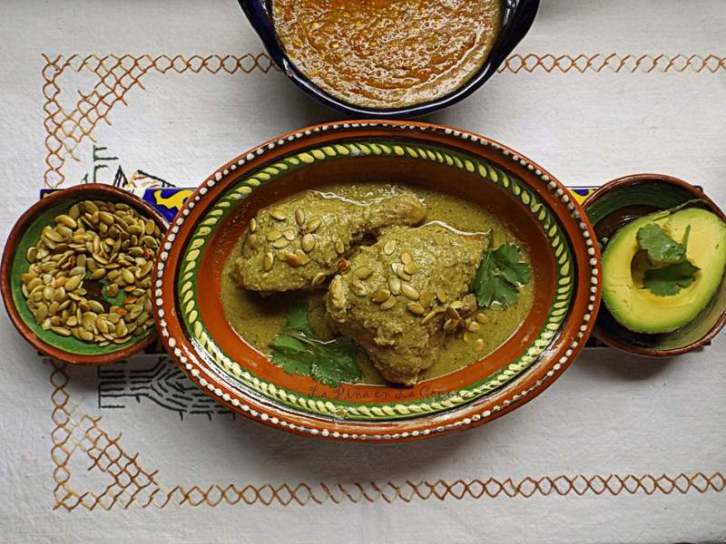 Mole Verde De Pollo Chicken Braised In A Green Mole Sauce