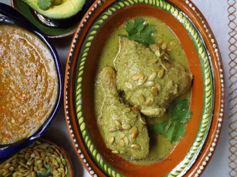 Mole Verde de Pollo-Green Mole Sauce with Chicken