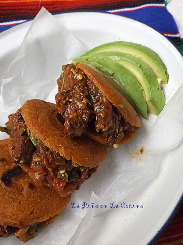 Salsa Borracha Beef Stuffed Gorditas