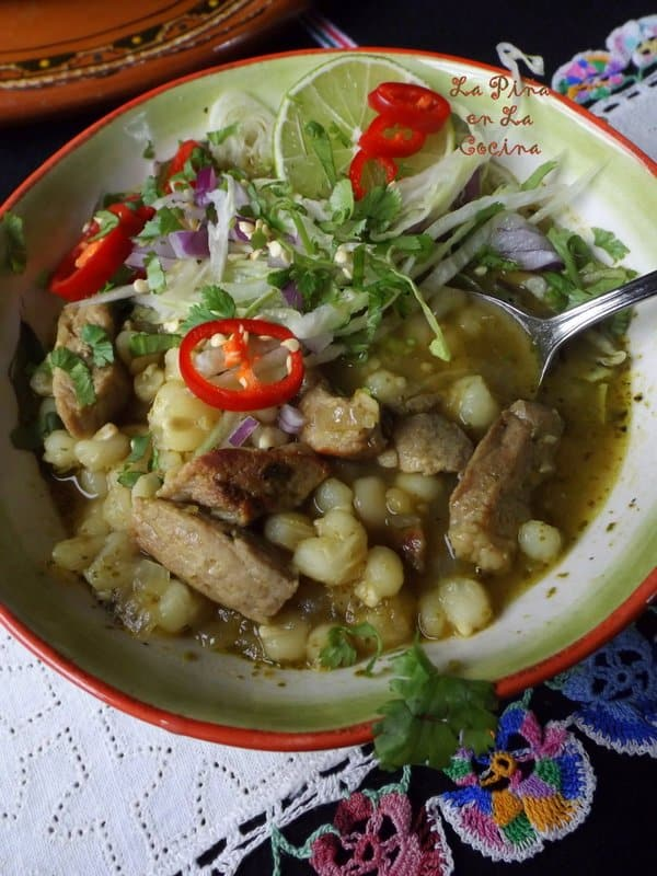 Green Chile Pork Pozole-Pozole Verde