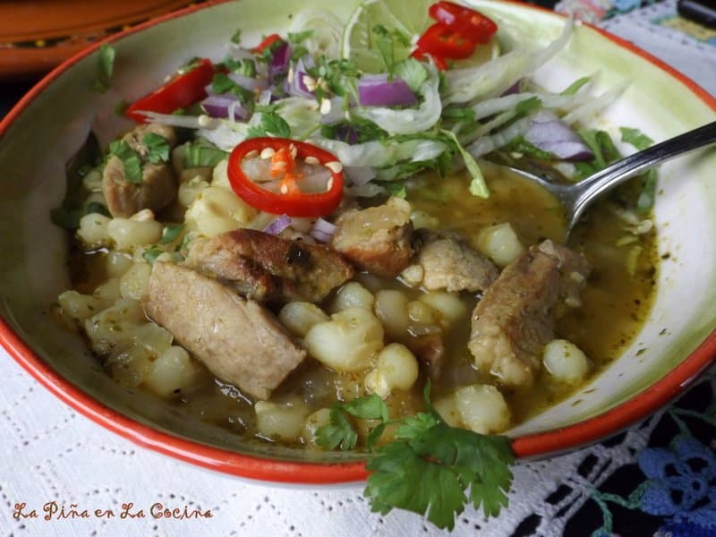 Green Chile Pork Pozole- Pozole Verde