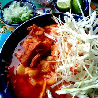 Red Chile Pork Pozole~Pozole Rojo