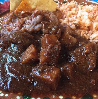 Asado de Puerco. Pork Chile Colorado