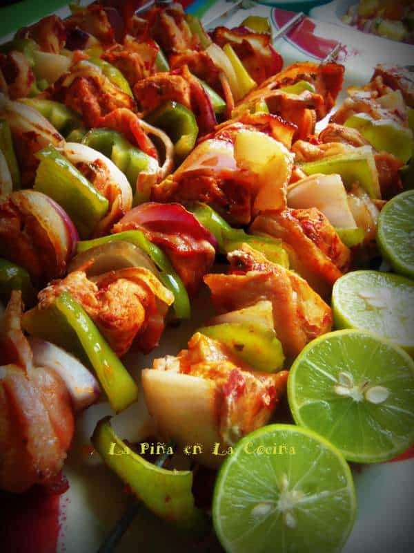 Alambres de Pollo-Red Chile Marinated Chciken Skewers