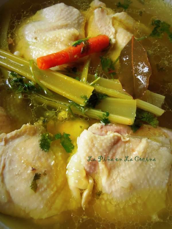 Caldo de Pollo-Homemade Chicken Stock