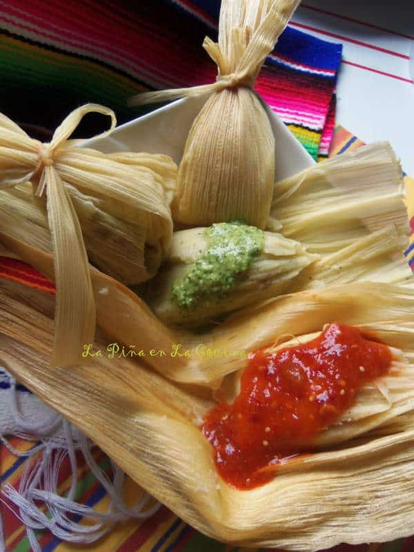 Cilantro and Cheese Mini Tamal