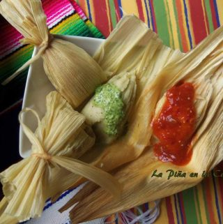 Cilantro and Cheese Tamal