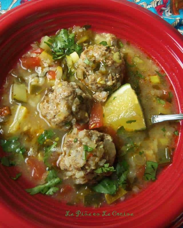 Kicked Up Albondiga Soup with Chipotle