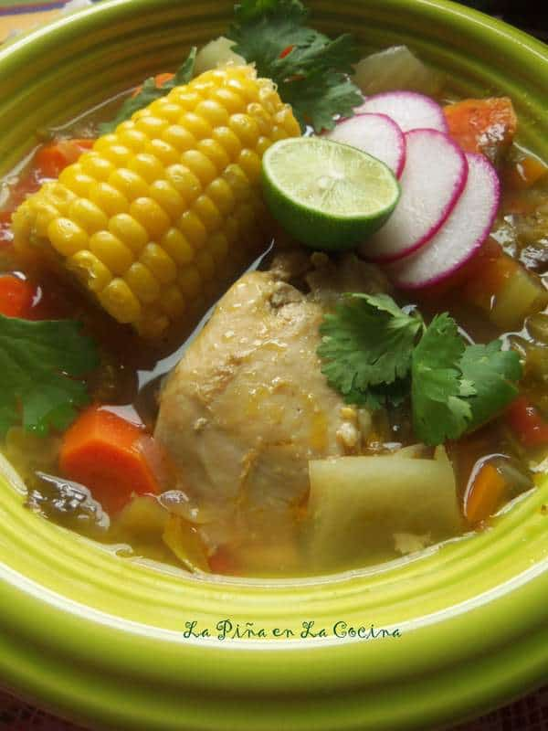 Food 1 2016 3 30 Homemade Chicken Stock >> Caldo de Pollo- Hearty Chicken Soup - La Piña en la Cocina