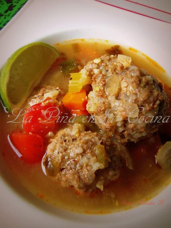 Albondiga Soup with Vegetables