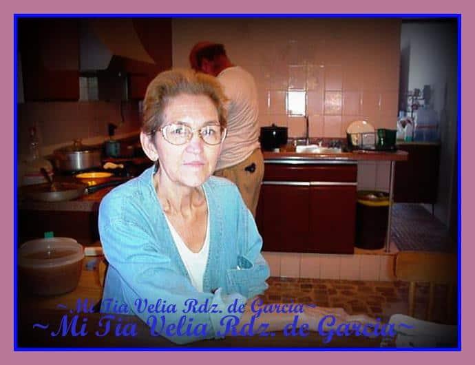 Family Recipes, My Tia Velia