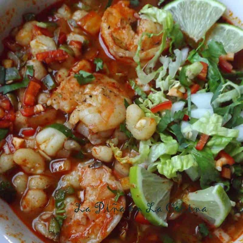 Pozole de Camarones-Shrimp Posole