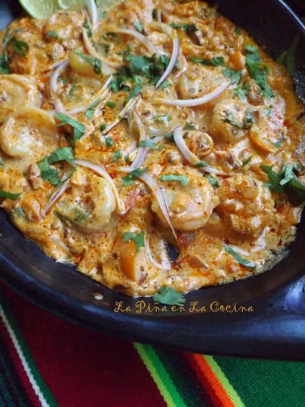 Camarones en Crema Chipotle-Shrimp in a Chipotle Cream Sauce